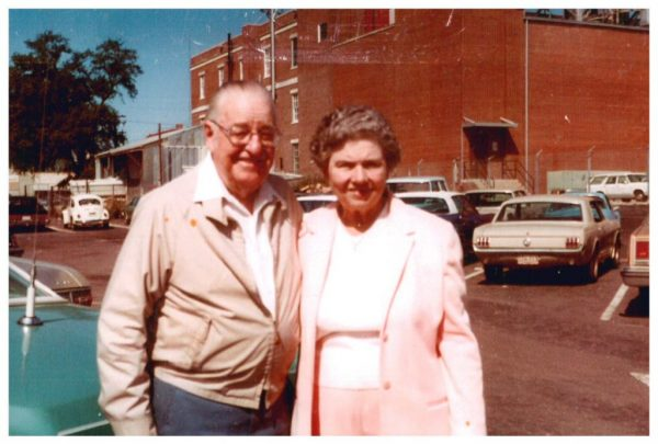 Hosea & Lilly Vann pose for a picture in Downtown Thomasville.